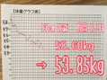 58kg→53kg 耳つぼダイエットの結果