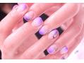 紫グラデーションフレンチ♪
