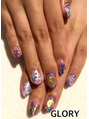 ethnic colorful nail