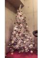 お店にクリスマスツリー♪