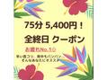 8月限定クーポン★全終日OK!