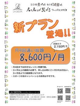 新プラン月4回 ¥8,600 登場