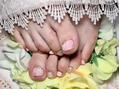 ピンクでホロのお花ネイル♪