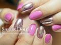 ピンク+ミラーネイル☆