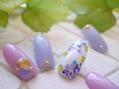 紫陽花ネイル♪
