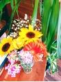 お店にお花♪♪