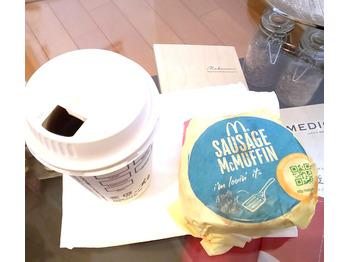 久しぶりの朝マック...200円で食べれちゃいます!_20190308_2