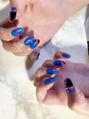 Blue nail☆