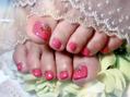 ピンクのフット♪