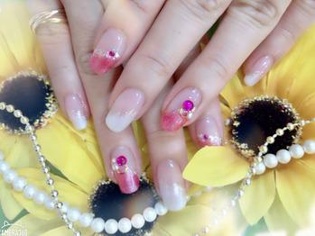 ピンクネイル♪_20190819_1