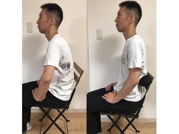 簡単にできる肩こり・腰痛対策 デスクワーク椅子編 before/after