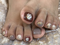 Autumn colour★FOOT nail