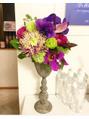 今週の受付を飾る艶あるお花たち^_^