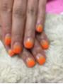 オレンジカラーグラデーションネイル♪