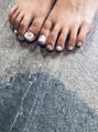 秋も人気foot nail