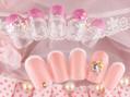 ピンク春ネイル☆