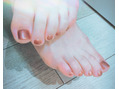 My new foot nail ☆