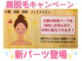 顔脱毛☆新パーツ登場!!