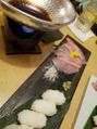 金目鯛のひきずり寿司