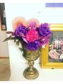 今週サロンを飾るパワー溢れるお花たち^_^