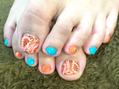 Orangeペイズリー☆foot