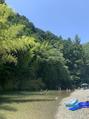 川に行きました