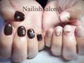 チョコレートカラーネイル