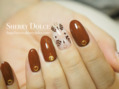 ブラウン刺繍ネイル☆