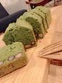 グルテンフリーの抹茶のパウンドケーキ