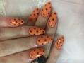 オレンジドットネイル☆