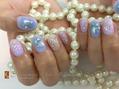 #雪の結晶nail