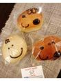 可愛いパンに癒やされる(*^^*)