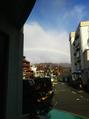 サロン近くに巨大な虹が出現☆☆☆