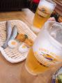お昼のビールは格別ですね!
