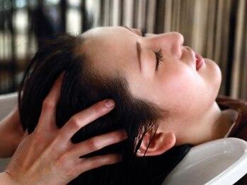 ヘアー カーム 鹿島田店(HAIR CALM)の写真/【鹿島田/新川崎】大人気メニュー★頭皮から繋がる目の疲れや首/肩の凝りまでゆっくりとほぐしていきます。
