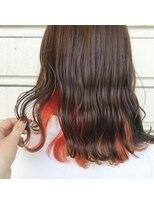 ルッツ(Lutz. hair design)オレンジインナーカラー