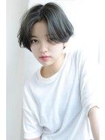 【Rose/甲子園口】センターパート_シルバーグレイボブ★