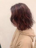ヘアーエスクールステラ(hair S.COEUR stella)ピンクパープル★ミディアムパーマ