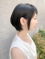ノット(Knot)【knot阿部展大】大人かわいい小顔丸み前下がりショートボブ