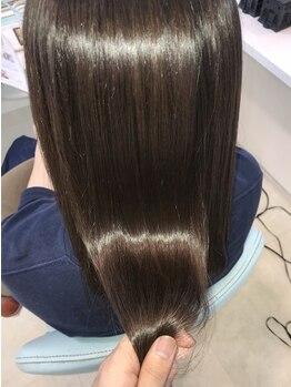 美容室 オルガニーク 沖浜店の写真/オーガニックカラーでダークトーンもオシャレにキマる☆ダメージレスなツヤ髪で360度美しいシルエットへ♪