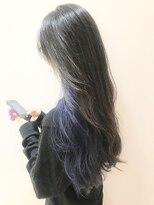 ヘアーライズ 池袋東口店(hair RISE)イヤリングカラーネイビーブルー