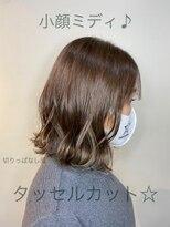 フレア ヘア サロン(FLEAR hair salon)20代30代オススメ♪小顔ミディ切りっぱなし☆