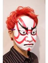 コマ(coma)【coma中野】朱の主張マニッシュショート_派手髪__スパイラル