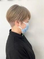 【KAILA】グレイヘア白髪染めリセット刈り上げショート☆高野
