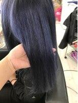 マーメイドヘアー(mermaid hair)アディクシーカラーでネイビーアッシュブルー☆