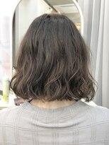 エトネ ヘアーサロン 仙台駅前(eTONe hair salon)切りっぱなしボブのパーマスタイル