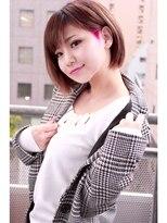 ☆CAPSULE☆刈り上げマニパニショートボブSTYLE/ブラウン&ピンク