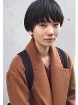テテ ニコ(tete nico)黒髪×コンパクトマッシュショートでおしゃれ可愛く。