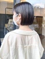 ヘアーアイスカルテット(HAIR ICI QUARTET)rena◯ストレート ミニボブ 黒髪