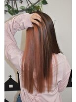 ヘアーサロン エール 原宿(hair salon ailes)(ailes 原宿)style355 ストレート☆インナーピンク